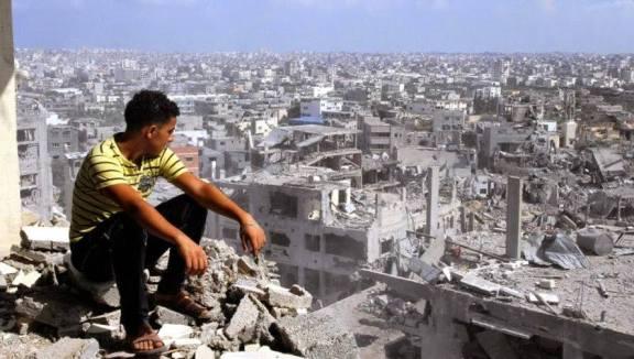 A photograph by Majeda Al Saqqa, on display at GAZA51. Credit: GAZA51/Facebook