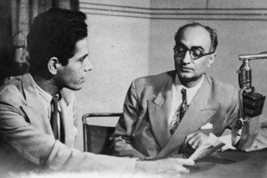 Habib Tanveer on (All India Radio) AIR. Courtsey: Nageen Tanveer/Naya Theatre