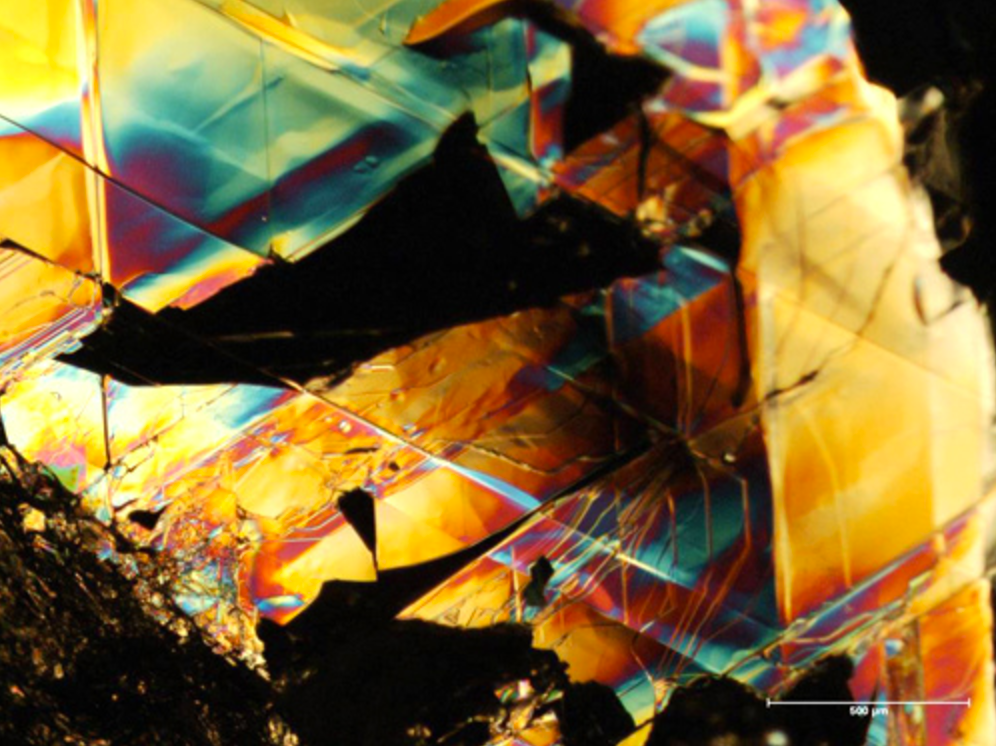 The surface of a natural graphite crystal. The graphene derived from such crystals exhibit interesting and unique topological properties. Credit: University of Exeter/Flickr, CC BY 2.0