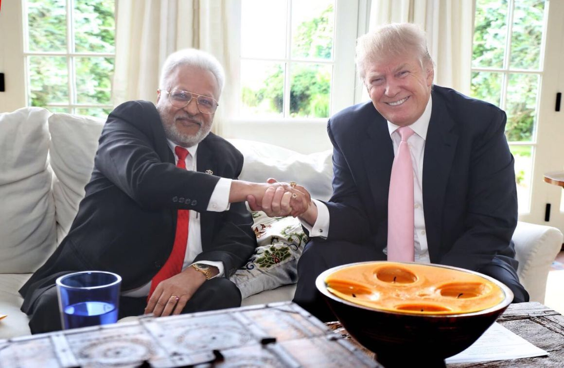 Shalabh Kumar with Donald Trump. Credit: Facebook