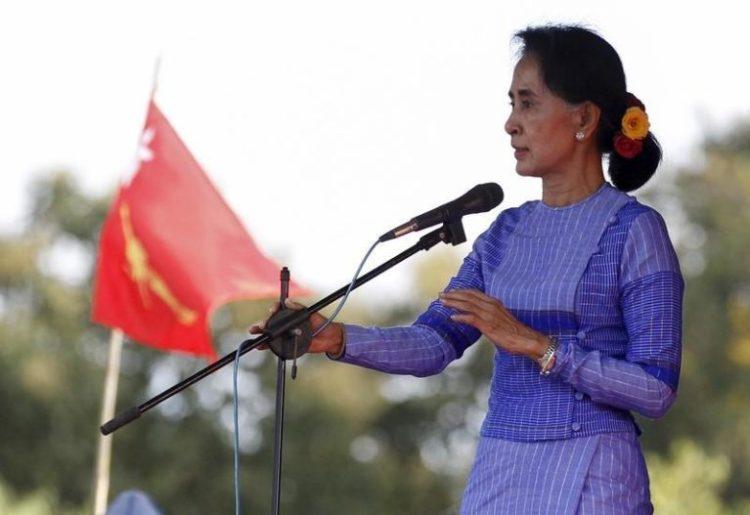 Aung San Suu Kyi is set to visit India for the BRICS summit. Credit: Reuters/Soe Zeya Tun
