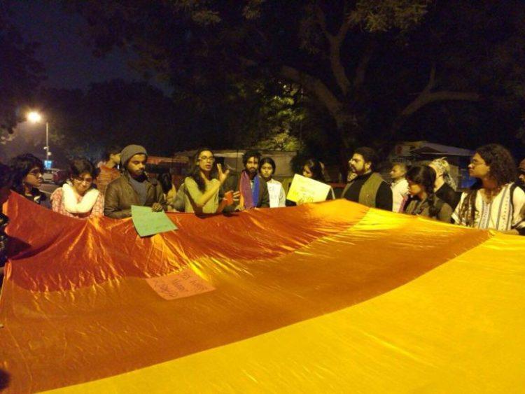 Protestors at Jantar Mantar on November 14. Credit: Ajita Banerjee