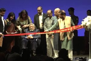 V.S. Naipaul inaugurating the Dhaka Literary Festival 2016. Credit: Twitter