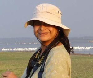 Rajashree Khalap, on a birding trip. Credit: Rajashree Khalap