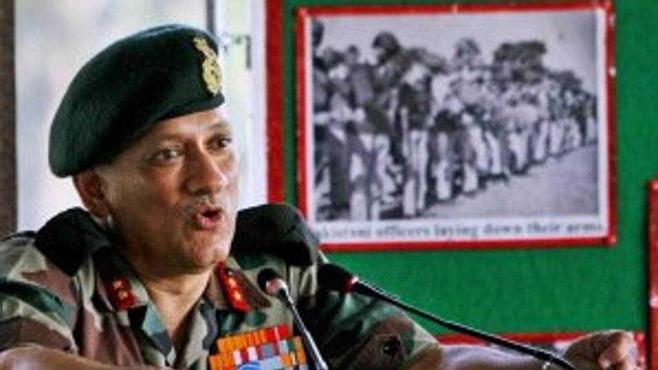 Lt Gen Bipin Rawat. Credit: PTI