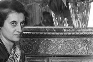 Former Indian prime minister Indira Gandhi. Credit: PTI
