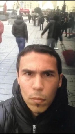 A frame grab made from a video which was distributed by Turkish police and released on January 3, 2017, shows a man, the suspected gunman behind the attack at Reina nightclub, taking a selfie in Istanbul, Turkey. Dogan News Agency (DHA) via Reuters/File Photo