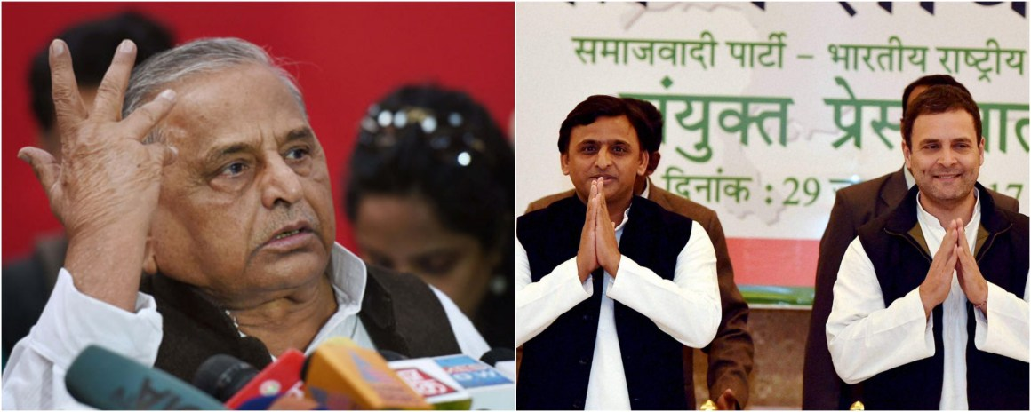 Mulayam Singh Yadav has criticised the Samajwadi Party-Congress alliance. Credit: PTI