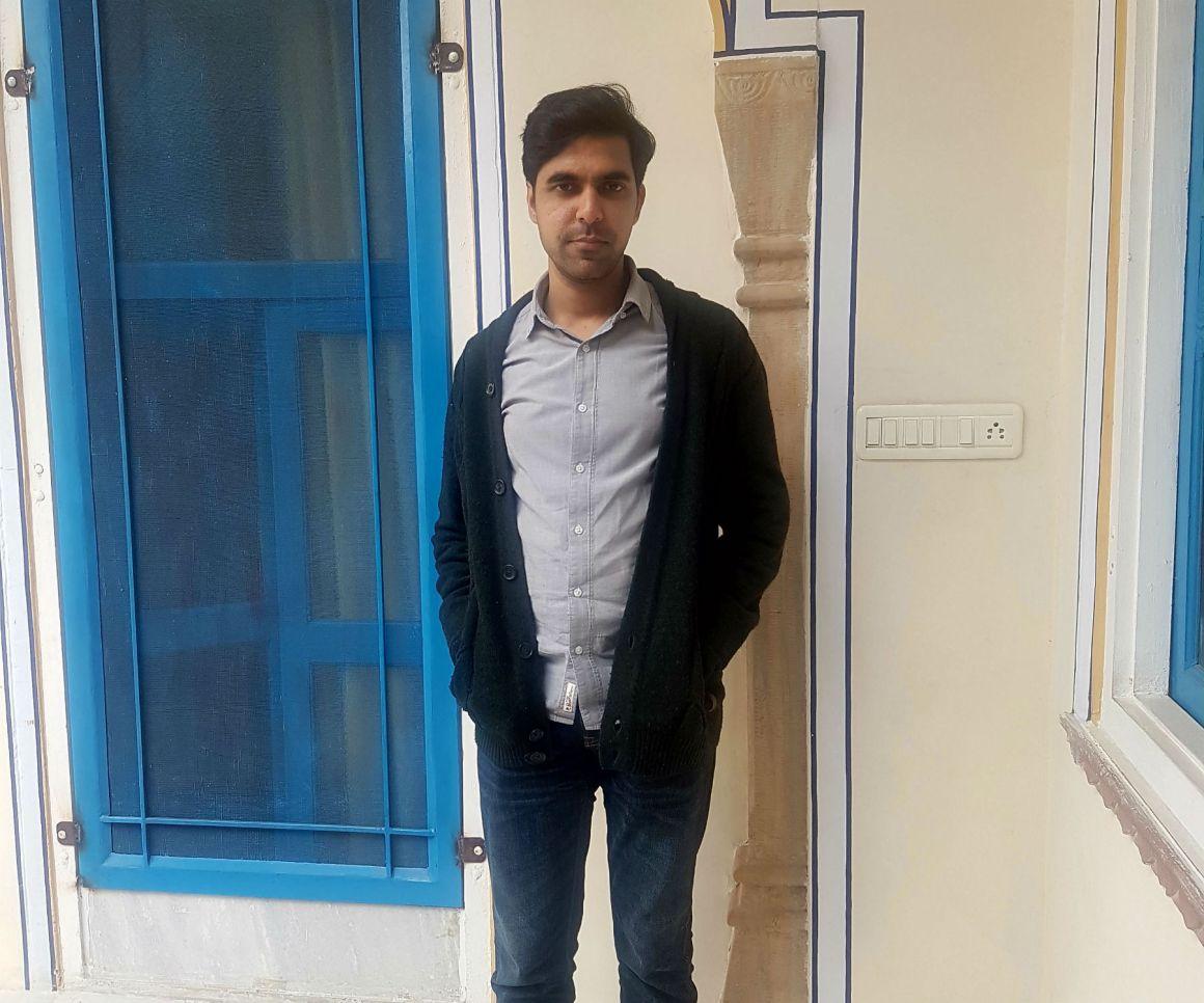 Karan Mahajan at the Jaipur Literature Festival. Credit: Nehmat Kaur