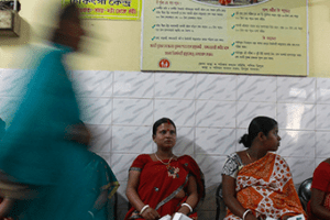 Pregnant women await their turn for a consultation. Credit: Reuters