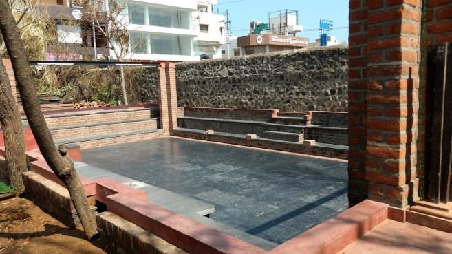 Two weeks after Vardah: a cleaned up kalari transformed into an amphitheatre Credit: Gita Jayaraj