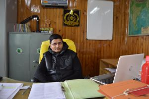Ram Prasad Badana in his office in Darjeeling. Credit: Athar Parvaiz