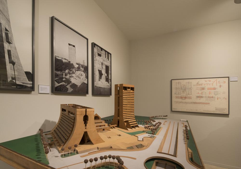 A model of the NDMC building by Ram Rahman, displayed at the Kiran Nadar museum. Courtesy: Ram Rahman