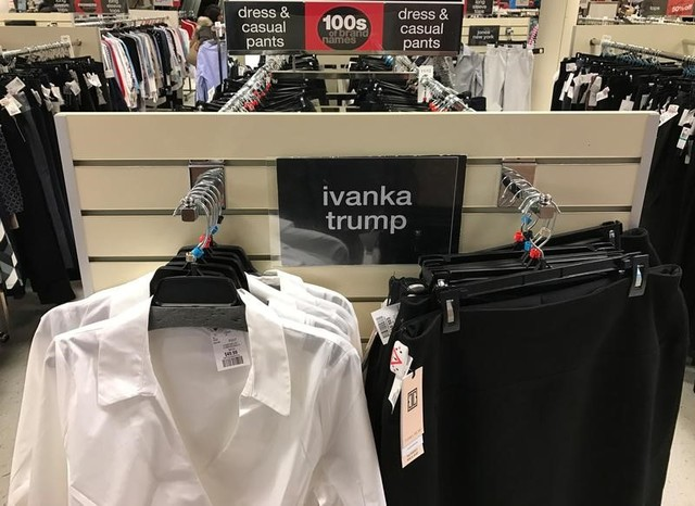 Ivanka Trump-branded blouses and trousers are seen for sale at off-price retailer Winners in Toronto, Ontario, Canada February 3, 2017. Credit: Reuters