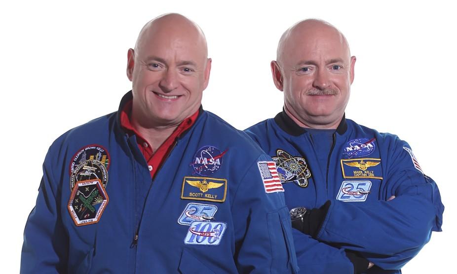 Separated at launch. Scott and Mark Kelly. Credit: NASA