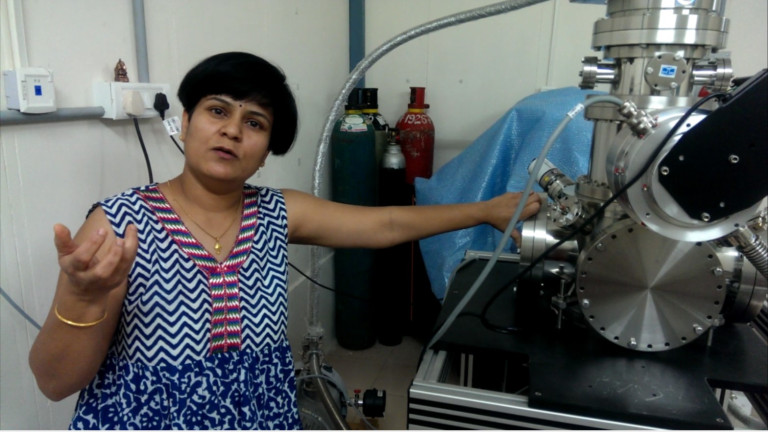 Vandana with one of the RIM systems she has built. Credit: The Life of Science