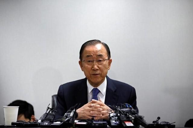 Former U.N. Secretary-General Ban Ki-moon speaks during his news conference in Seoul, South Korea January 31, 2017. REUTERS/Kim Hong-Ji