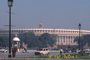 A view of the parliament building in New Delhi. Credit: williewonker/Flickr CC BY-SA 2.0