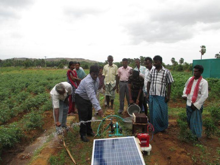 Solar portable pump. Credit: M.J. Prabu