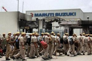 The Maruti Suzuki plant in Manesar. Credit: PTi