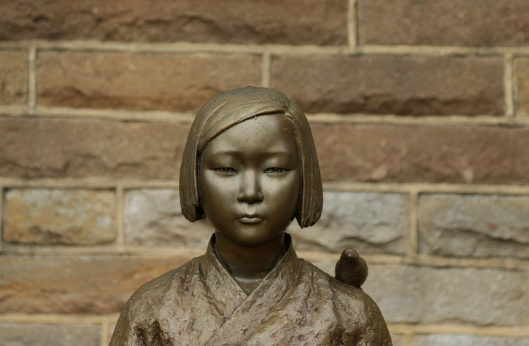 A statue commemorating Korean 'comfort women' in Sydney. Credit: Reuters