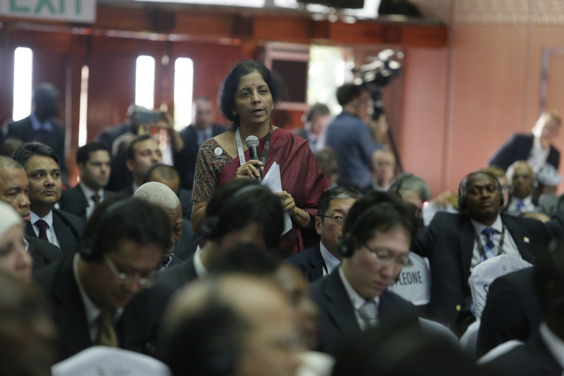 File photo of Nirmala Sitharaman at the WTO ministerial meeting in Nairobi, 2015. Credit: WTO