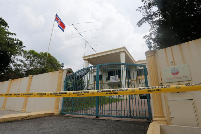 A view of the North Korea embassy that has been sealed off in Kuala Lumpur, Malaysia March 7, 2017. Credit: Lai Seng Sin/Reuters