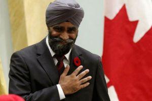 Canadian defence minister Harjit Singh Sajjan. Credit: Reuters