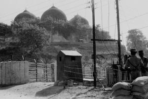File photo of Babri Masjid in Ayodhya, November 1990. Credit: PTI