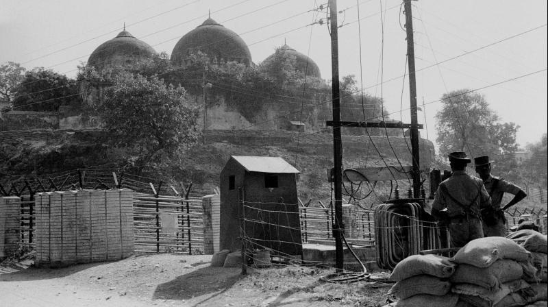 File photo of Babri Masjid in Ayodhya, November 1990. Credit: PTI
