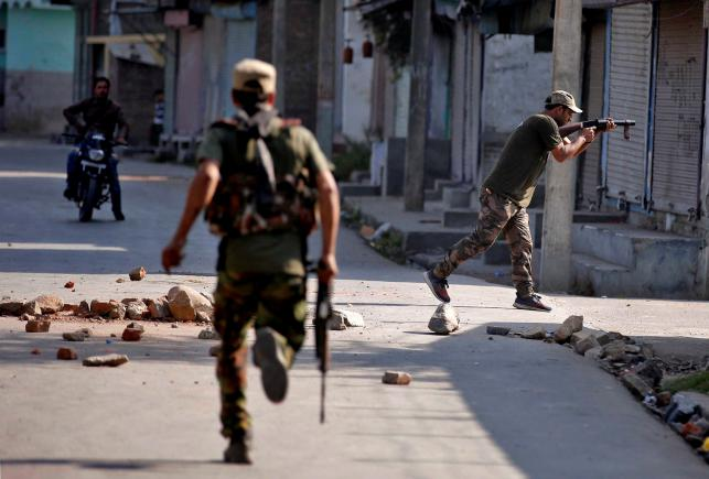 It is ironic that successive governments have always talked about how the Kashmir issue can't be resolved using force – but repeatedly proceeded to attempt exactly that. Credit: Reuters