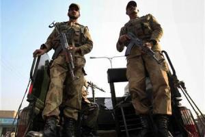 Representative image: Soldiers keep guard at a blast site in Peshawar December 5, 2009. Credit: Reuters/Fayaz Aziz
