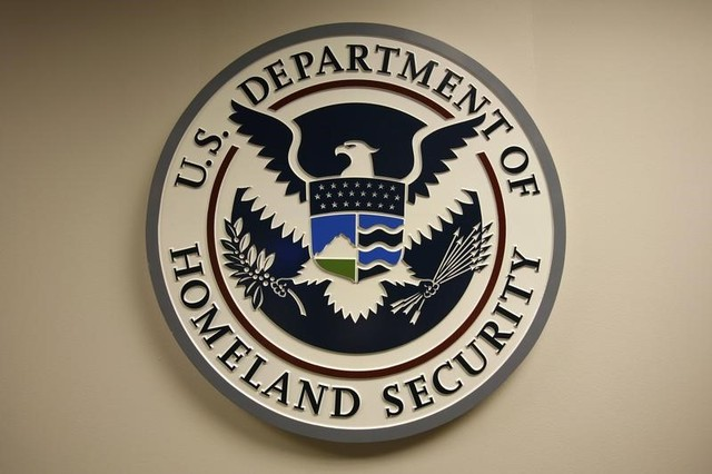 US Department of Homeland Security emblem is pictured at the National Cybersecurity and; Communications Integration Center (NCCIC) located just outside Washington in Arlington, Virginia September 24, 2010. Credit: Reuters