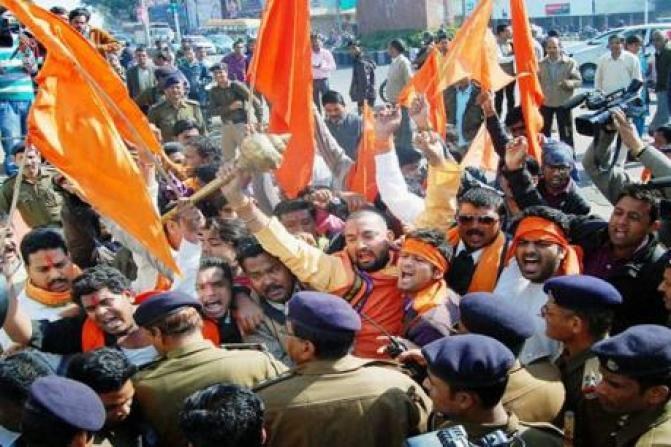 File photo of a Hindu Yuva Vahini rally. Credit: PTI