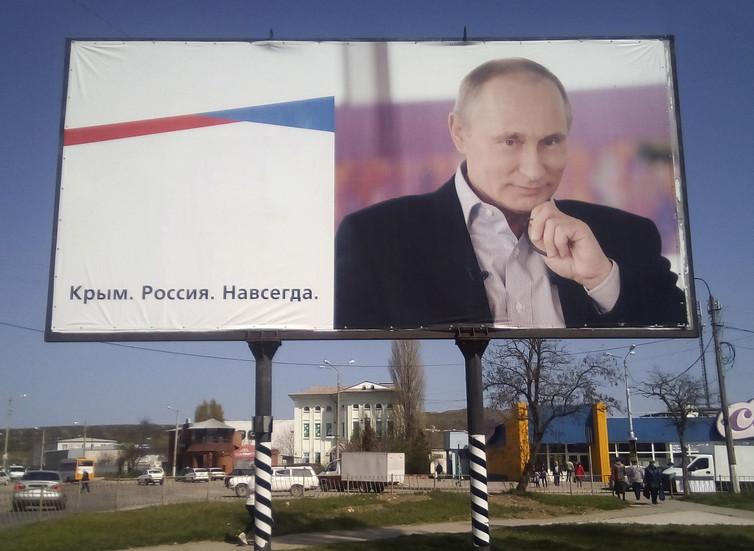 Vladimir Putin's plans for Russia do not stop at Crimea. Andrew Osborn/Reuters