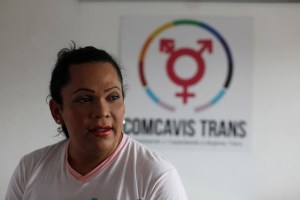Karla Avelar, executive director of the Association for Communicating and Training Trans Women (COMCAVIS TRANS), pose for a picture at her office in San Salvador, El Salvador, May 12, 2017. Credit: Reuters/Jose Cabezas