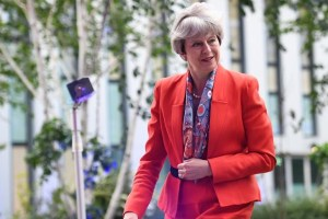 Prime Minister Theresa May arrives at Sky studios in Osterley, west London to take part in a joint Channel 4 and Sky News general election programme, May 29, 2017. Credit: Reuters/Stefan Rousseau/Pool