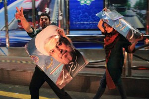 Hassan Rouhani's supporters have high hopes for a second term. Credit: Reuters/Yalda Moayeri