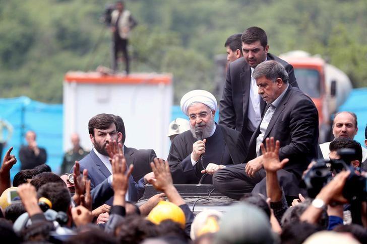 Rouhani rally. President.ir/Handout via Reuters