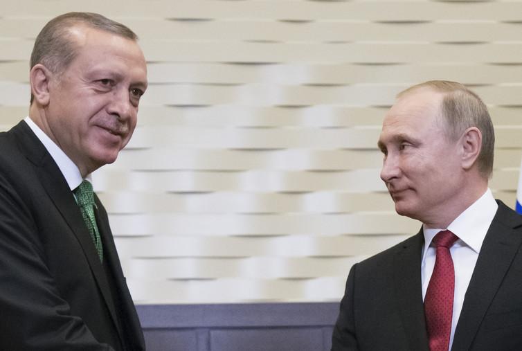 Turkey's Recep Tayyip Erdoğan and Russia's Vladimir Putin are another couple of Trump favourites. Credit: Alexander Zemlianichenko/Pool/Reuters