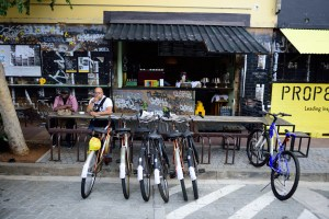 In Maboneng, bikes and bistros abound. In adjacent inner-city Johannesburg, people struggle to survive. Credit: South African Tourism/Flickr
