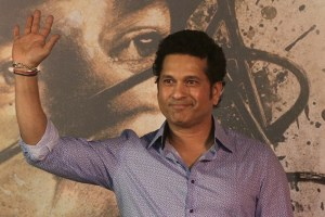 Sachin Tendulkar at the premier of Sachin: A Billion Dreams.