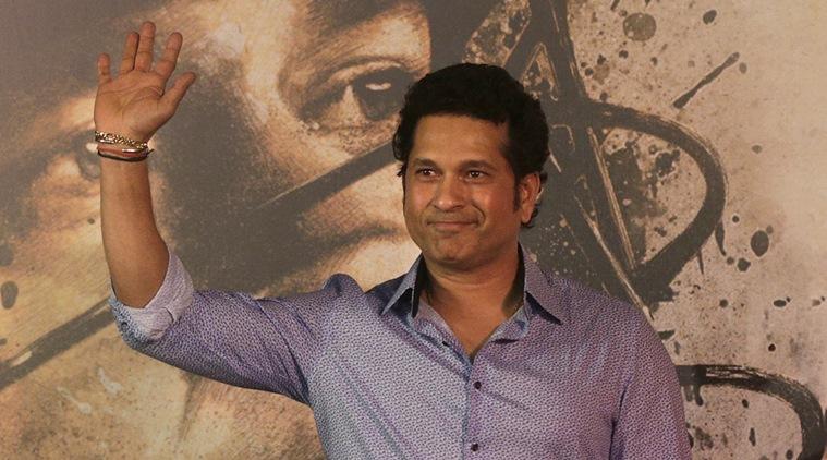 Sachin Tendulkar at the premier of <em>Sachin: A Billion Dreams</em>.