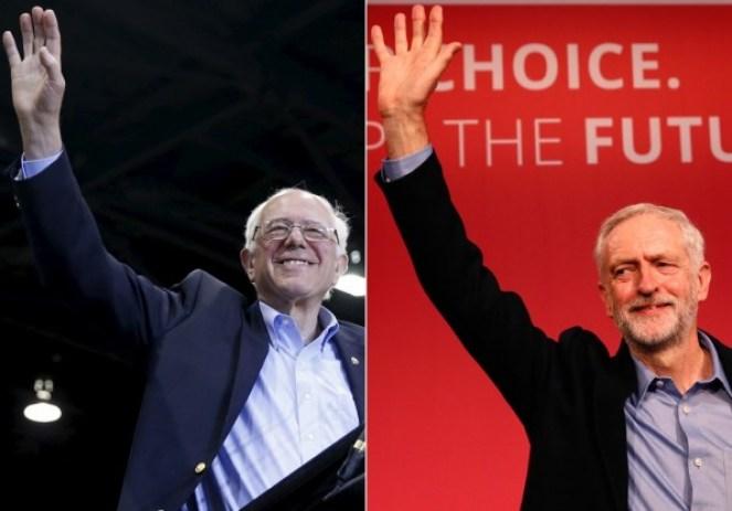 Senator Bernie Sanders. Credit: Reuters/Scott Audette; Jeremy Corbyn. Credit: Reuters/Stefan Wermuth