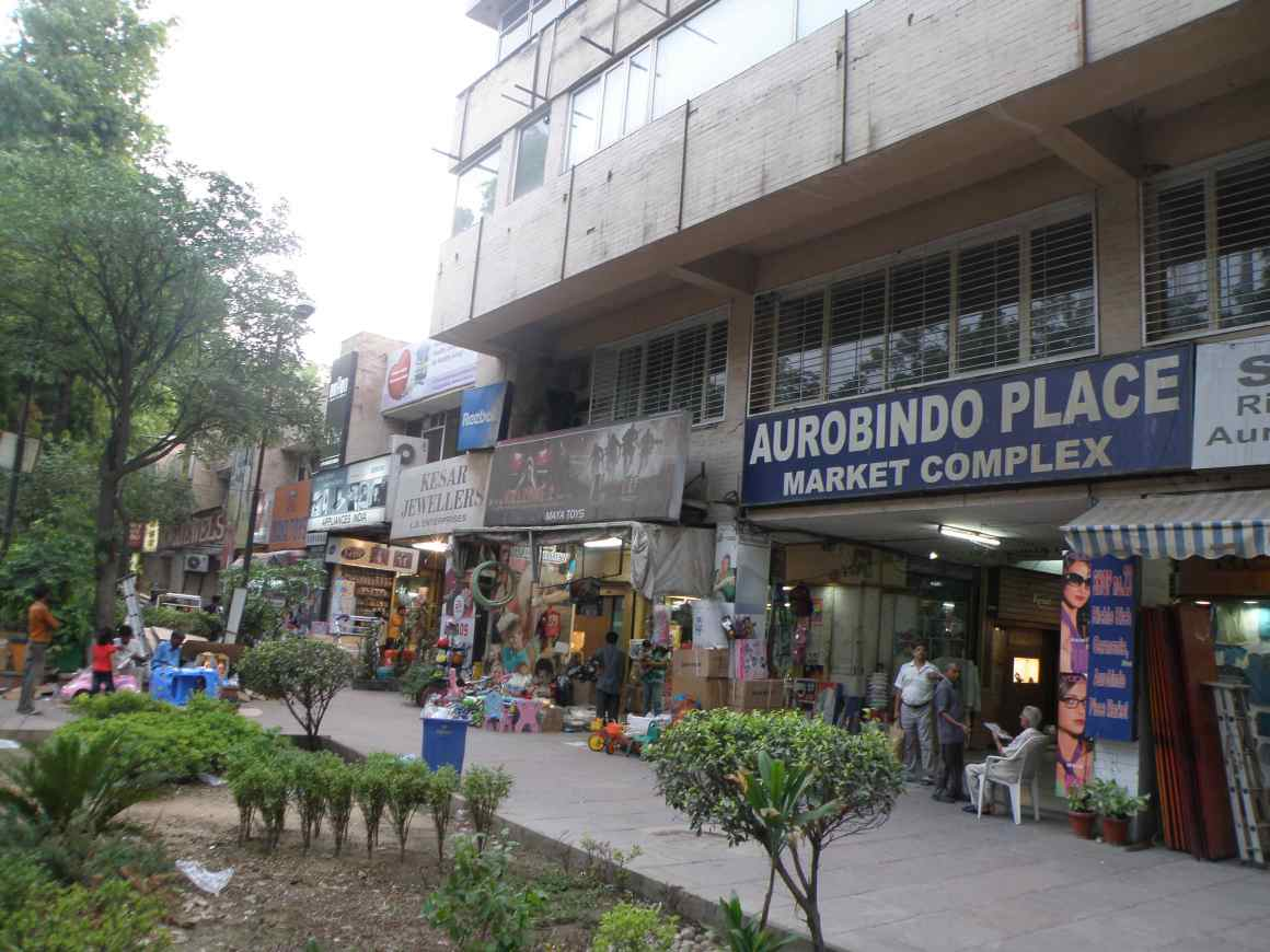 Aurobindo Place market, one of the sites of the survey. Credit: Wikimedia Commons