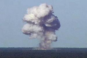 Representative image: The GBU-43/B, also known as the Massive Ordnance Air Blast, detonates during a test at Elgin Air Force Base, Florida, US, November 21, 2003. Credit: Reuters/US Air Force photo/Handout via Reuters