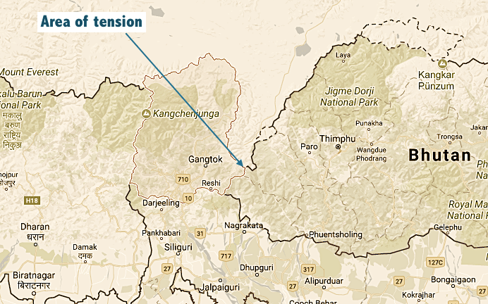 India, China Stand-Off At Border Tri-Junction With Bhutan Continues