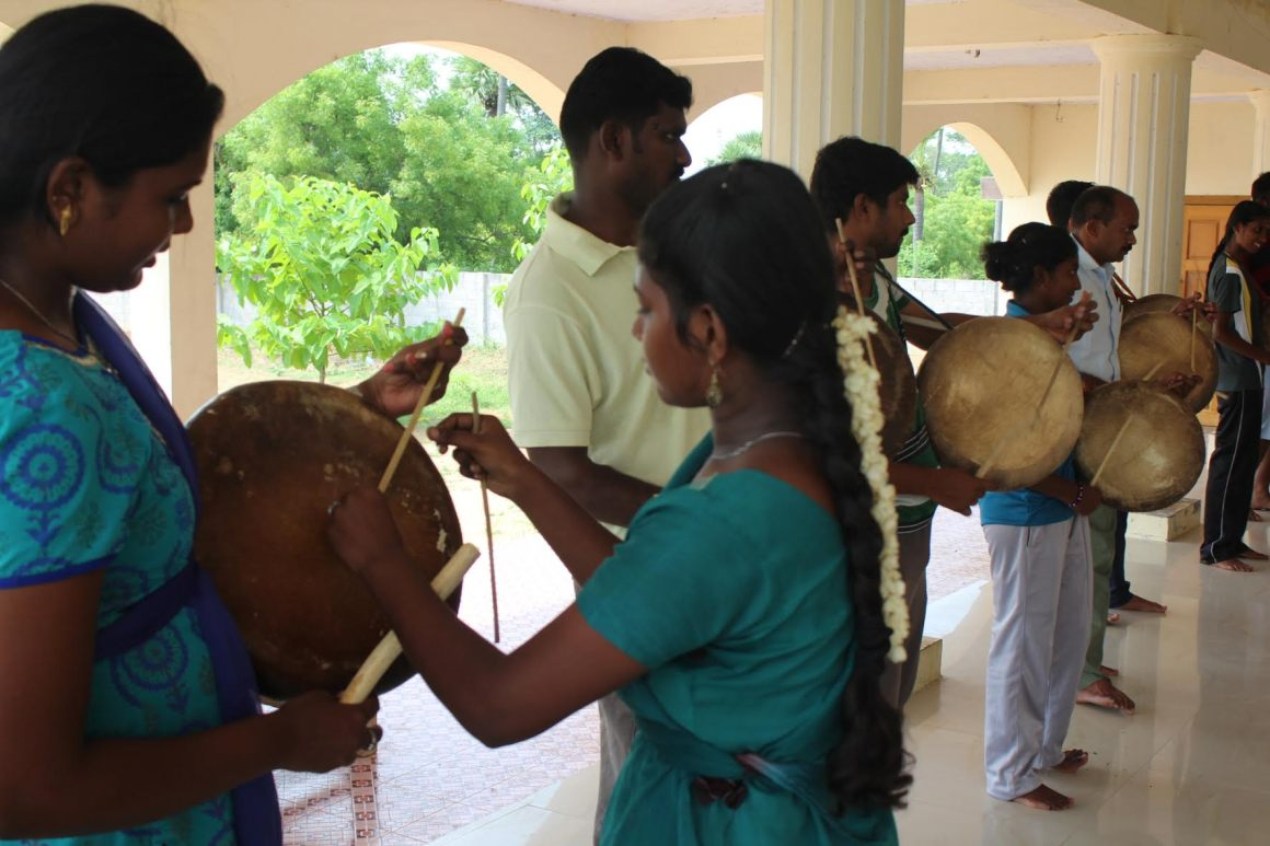 During a parai class conducted by Manimaran… Source: Author provided