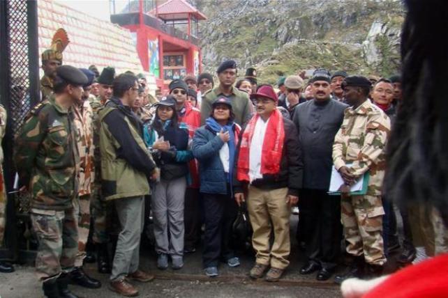 Nathu La pass in Sikkim. Credit: PTI