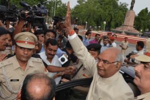 Ram Nath Kovind on his way to Delhi. Credit: Governor of Bihar website